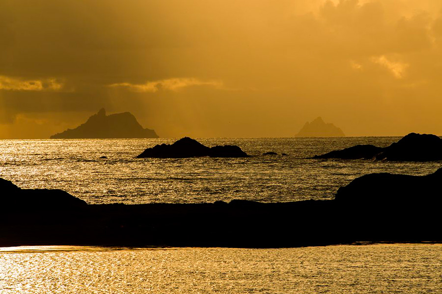 The Skellig Islands from Kerry's Skellig Coast